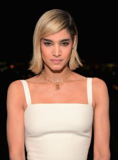 Sofia Boutella attends GQ and Dior Homme private dinner in celebration of The 2017 GQ Men Of The Year Party at Chateau Marmont on December 2017 in Los Angeles, California. (Photo by Charley Gallay/Getty Images for GQ) *** Local Caption *** Sofia Boutella Sofia Boutella, Native American Women, American Indians, American Art, American History, Bearded Tattooed Men, Bearded Men, Divas, Gq Men