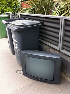 DEAD TVs. A webpage of photos of televisions left on the curb. I should start photograping the tvs I find aswell. I do have something similar posted on my facebook page of abandoned furniture I've seen etc.