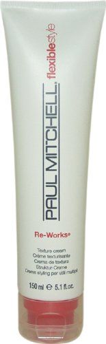Paul Mitchell Reworks Texture Cream - won't glop, or weigh thinner hair down. Great for short, thin, straight hair.
