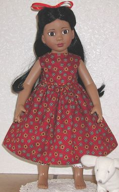 "FREE pattern for 18"" doll holiday dress"