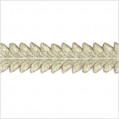 Add stylistic touches to your finished garment or accessory with a stunning metallic twist! Made from polyester and topped with lurex yarns, here is a luminous trim consisting of a leafy pattern in metallic gold. This 1.5 inch wide trim can easily be used as a unique shoulder strap, a stylish waistband, a divine central back seam and so much more! Dare to decorate?