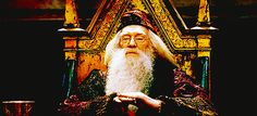 Only he could pull off this clap. | Community Post: 14 Ways Dumbledore Was The Sassiest Wizard Of All Time