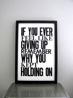 Giving up vs. holding on