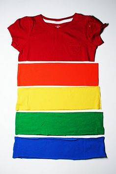 This could so easily be adapted to make an awesome rainbow tee for any size!