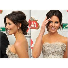Kate Beckinsale Updos for Prom Prom Hairstyles ❤ liked on Polyvore