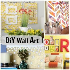 Spruce up a bare wall with DIY wall art via Jessica @ Four Generations One Roof Diy Wall Art, Diy Wall Decor, Diy Home Decor, Diy Wand, Diy Home Crafts, Diy Arts And Crafts, Diy Art Projects, Just In Case, Diy Ideas