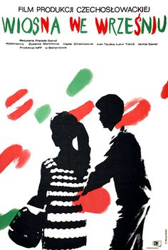 Vintage movie poster 1964 by Jacek Neugebauer : Wiosna we wrzesniu