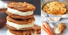 Alfajorcitos dulces de zanahoria con canela y sin harina -- sweet gingerbread cakes with carrot and cinnamon, without flour Veggie Recipes, Sweet Recipes, Dessert Recipes, Cooking Recipes, Healthy Desserts, Healthy Recipes, Good Food, Yummy Food, Sin Gluten