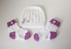 Strickanleitung Baby-Set, Mütze und Socken Ajourmuster ca. 5 - 12 Monate