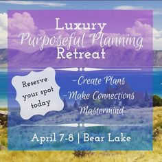 Lady's Melissa here. I'm so excited that I have been asked to speak at this retreat. I would love for you to join me. Do you have a project you are working on? Would you like some time to dedicate to working on that project with many great people who can help you to achieve your goals? If so this is for you. Come spend next weekend with me. This is the link where you can find all the details.  http://ift.tt/2niI4QV @higher.u  #planning #retreat