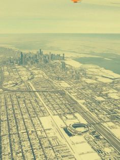 Chicago from an airplane. Winter 2014.