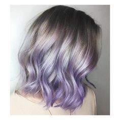 The Prettiest Pastel Purple Hair Ideas ❤ liked on Polyvore featuring accessories, hair accessories, purple hair accessories, silver hair accessories and short hair accessories
