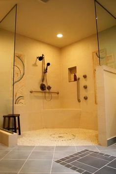 #Accessible #bathroom Design. Big Shower, | Hardline Design And