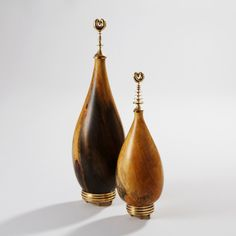 Orchis vessels in Aesculus wood and polished brass - Kriest