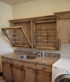 Laundry Room Design, Pictures, Remodel, Decor and Ideas - drying racks