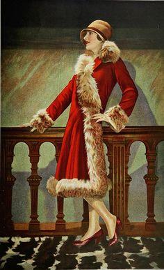 """Manteau d'apres-midi 1927    Les Modes (Paris) """"Sarzeau"""" 1927 Manteau d'apres-midi de la Maison Amy Linker"""