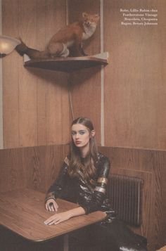 Lillie Rubin dress from Featherstone Vintage. I heart Magazine. Photographed by Chloe Gassian. Styled by Tinashe Musarara