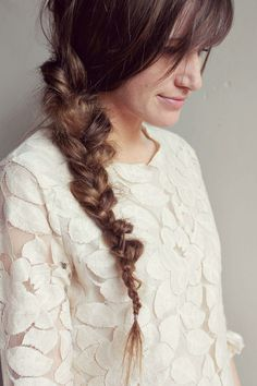 Hair How-to: The messy braid.