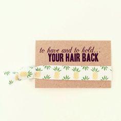 Bachelorette favors Gold Pineapple Hair Ties baby shower pineapple favors summer hair loot bag beach hair bridal shower wedding