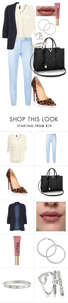 """Untitled #507"" by dreamer3108 on Polyvore featuring H&M, Dondup, Christian Louboutin, Dorothy Perkins, Too Faced Cosmetics and Cartier"