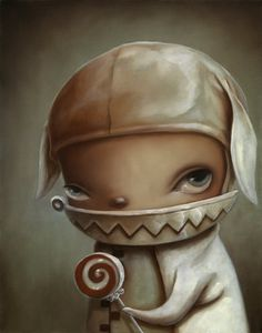 Kathie Olivas painting are beautifully insane... Love them, love them.........