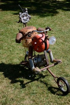 MotorCycle Man Recycled Metal Garden Art by nbillmeyer on Etsy, $1000.00