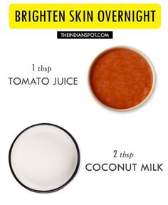 "Overnight Brightening Face Mask Tomato contains fruit acid while raw milk contains lactic acid so this ""high acid"" overnight mask is very beneficial for clea..."