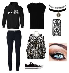 """""""AHS"""" by bands-r-life ❤ liked on Polyvore featuring Isabel Marant, Frame Denim, Converse, SM New York and Charlotte Russe"""