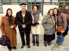 Iranian Family at Train Station, Tabriz, Iran.