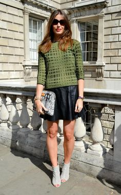 fall leather skirt