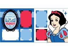 Disney Snow White scrapbook pages Paper Bag Scrapbook, Disney Scrapbook Pages, Scrapbook Titles, Scrapbook Journal, Scrapbook Page Layouts, Scrapbook Supplies, Scrapbook Cards, Scrapbooking Ideas, Digital Scrapbooking