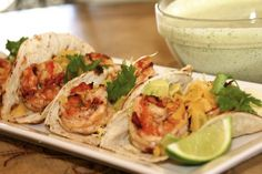 Chipotle Shrimp Tacos with Cilantro Lime Sauce   Harvest Ranch Market   Jonathans Market