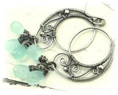 Chalcedony Jewellery – SANDRINE Earrings Sterling Silver Chalcedony – a unique product by SimplyAndBeautiful on DaWanda