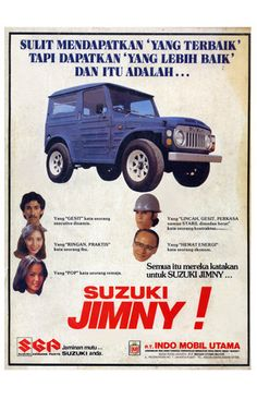 1981 Suzuki Jimny Print Ads - Indonesia. Back to the past . . .