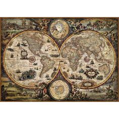 Astrology Discover Vintage modern wall murals Vintage World - Wall Mural & Photo Wallpaper - Photowall Antique World Map, Old World Maps, Old Maps, Antique Maps, Vintage World Maps, Vintage World Map Poster, World Map Wallpaper, Photo Wallpaper, Art Carte