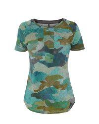 c1a7da662dab Karen millen Camouflage Tshirt in Green   Lyst Camouflage, Karen Millen,  Green, T
