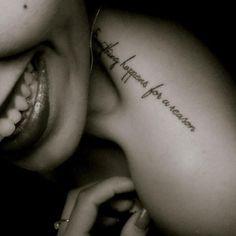 Tattoo mit Schrift - Idee für Frauen
