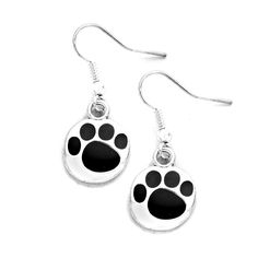 Joji Boutique - silver and black paw print drop earrings (www. Dog Jewelry, Animal Jewelry, Dog Accessories, Metal Stamping, Pet Portraits, Dog Love, Fur Babies, Jewerly, Fashion Jewelry