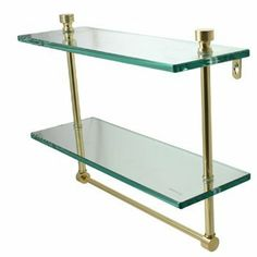 """Allied Brass NS-2TBBKM Premium Finishes Matte Black-BKM 16 IN Glass Shelf Bathroom Accessories Double Glass Shelf With Bar by Allied. $109.80. Allied Brass NS-2TB Bathroom Accessories Double Glass Shelf With Bar - 3/8"""" Thick Tempered Glass Foxtrot Collection Available With Option Of Finishes Available In Sizes 16"""" x 5"""" x 11-1/2"""" & 22"""" x 5"""" x 11-1/2"""" Shelf Spacing 6-1/4"""" 3/8"""" Thick Tempered Glass Foxtrot Collection Available With Option Of Finishes Available In Sizes 16"""" ..."""