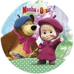 Oblea Masha y el Oso 1 - Modecor - Mandals - Costallations - Tattoo compass - Masha And The Bear, Barbie, Matilda, Compass, Maya, Teddy Bear, Mandala, Animation, Cartoon
