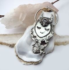 The Dreamer  Goddess Amulet Pendant  Moonstone by savagealice
