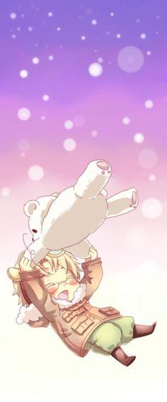 So cute.. Canada + Kumajirou by m-miron.: