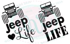 Jeep Life Matching Male and Female Jeeps, svg dxf png, climbing jeep cutting files for making car jeep truck decal, shirt, t-shirt by VinylVixenExpress on Etsy Vinyl Crafts, Vinyl Projects, Truck Decals, Vinyl Decals, Female Shirt Designs, Jeep Stickers, Jeep Shirts, Cool Jeeps, Silhouette Images