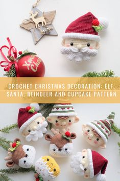Amigurumi❦ by PlyushkiToysPatterns Crochet Christmas Decorations, Christmas Tree Pattern, Cute Christmas Gifts, Crochet Christmas Ornaments, Christmas Crochet Patterns, Crochet Decoration, Christmas Makes, Christmas Crafts, Rena