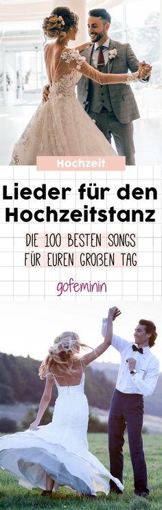 Lieder für den Hochzeitstanz: Die 100 besten Songs für euren großen Tag #liederhochzeitstanz #hochzeitlieder
