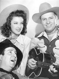 BUNKHOUSE SERENADE - Gene Autry, Smiley Burnette & Fay McKenzie