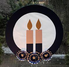 Askartelijan idealaari: Itsenäisyyspäivän ikkunakoriste Finnish Independence Day, Finland, Techno, Holiday, Christmas, December, Seasons, Diy School, Crafts