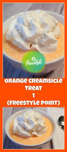 Orange Creamsicle Treat (1 Freestyle Point) | weight watchers cooking
