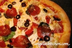 Gluten Free Dairy Free Pizza baked