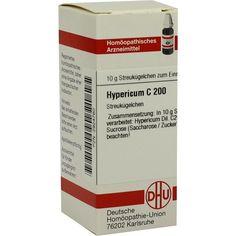 HYPERICUM C 200 Globuli:   Packungsinhalt: 10 g Globuli PZN: 02924760 Hersteller: DHU-Arzneimittel GmbH & Co. KG Preis: 9,10 EUR inkl. 19…